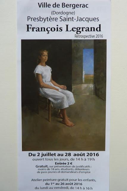 Rétrospective peinture François Legrand à Bergerac
