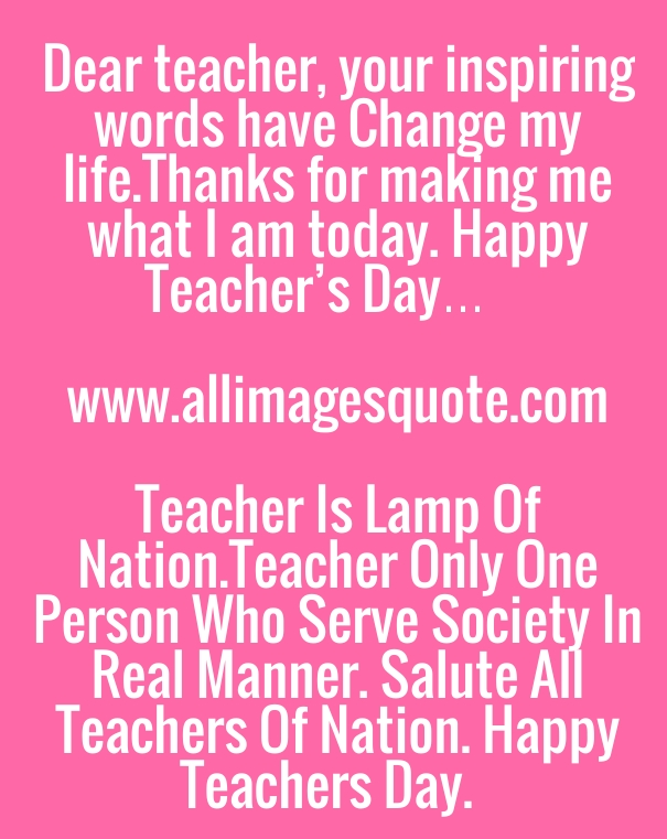 Happy Teachers Day Quotes, Poems, Sayings Facebook Images