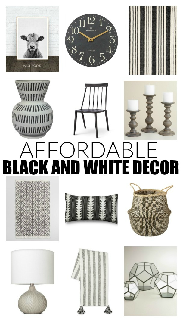 Stylish and Affordable Black and White Decor.