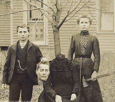 Lustige alte Familienfotos von früher - Großmutters Kopf