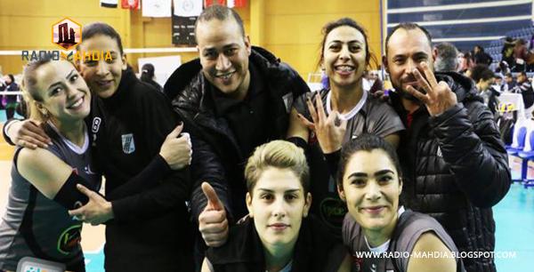 الكرة الطائرة : فتيات النادي الصفاقسي بطلات العرب أمام الأهلي المصري