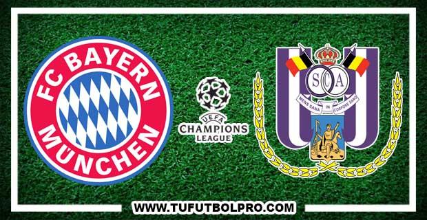 Ver Bayern Múnich vs Anderlecht EN VIVO Por Internet Hoy 12 de Septiembre 2017