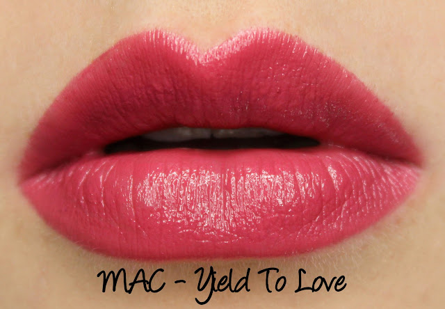 MAC MONDAY | A Novel Romance - Yield to Love Lipstick Swatches & Review