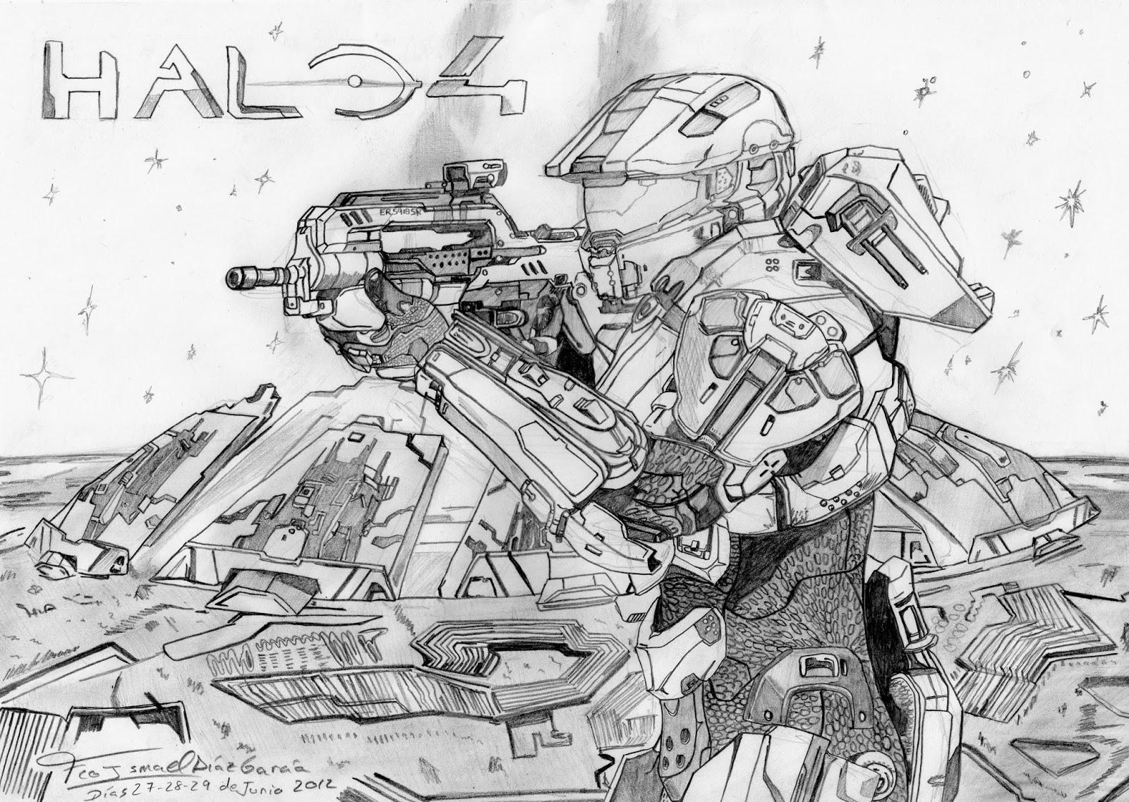 Halo 4 Dibujos Para Colorear - Dibujos Para Dibujar