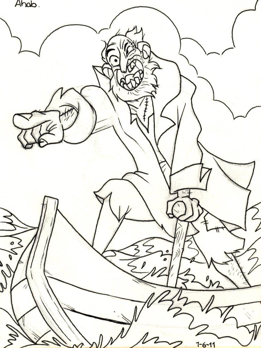 Finbar Coyle: Ahab Sketch