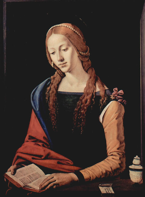 ИПьеро ди Козимо Piero di Cosimo  - Читающая Мария Магдалина