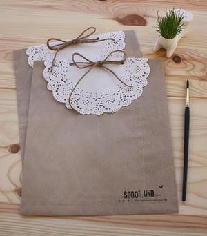 Tutorial de artesan as adornos con blondas o carpetas de for Decoracion bodas baratas