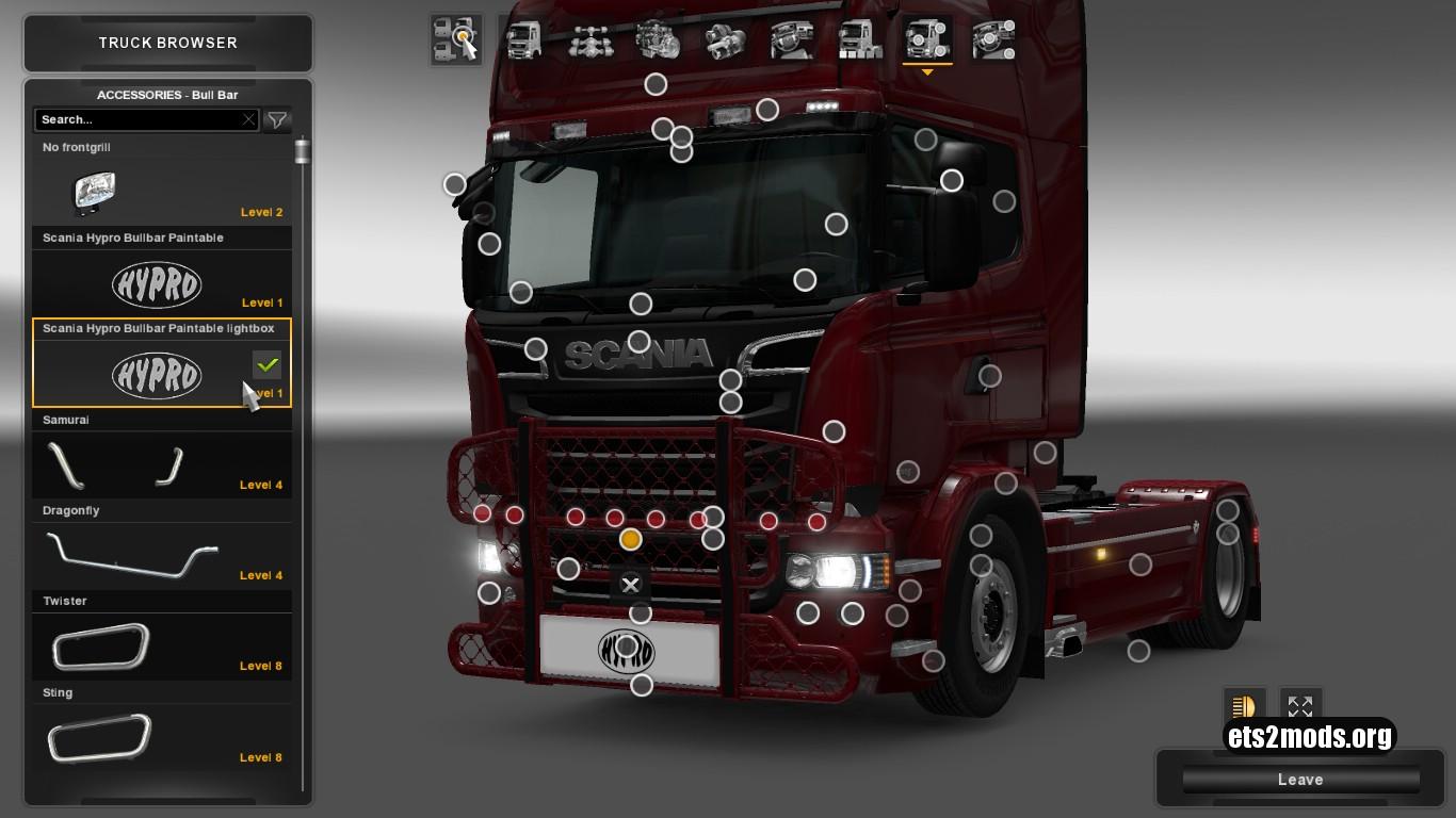 Hypro Bullbar & lightbox for Scania RJL