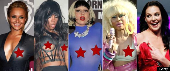Celebrity Wardrobe Malfunctions 2012