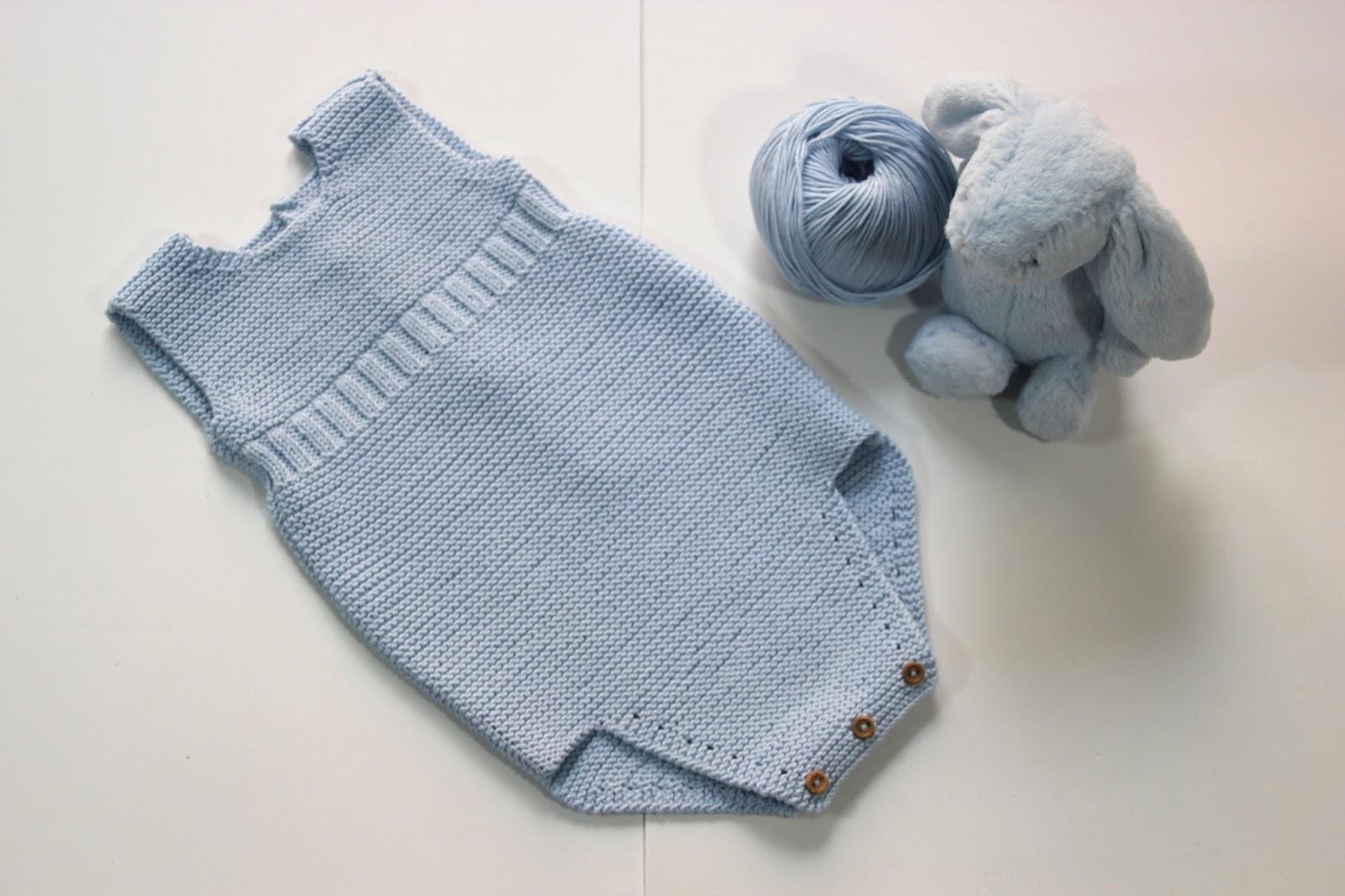 7d2cf09ef Diy tejer ropa de bebe pelele patrones gratis