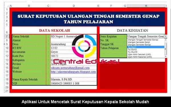Download Aplikasi Cetak Surat Keputusan Kepala Sekolah
