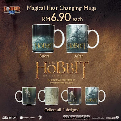 "Burger King ""The Hobbit: The Desolation of Smaug Magical Heat Changing Mugs"""