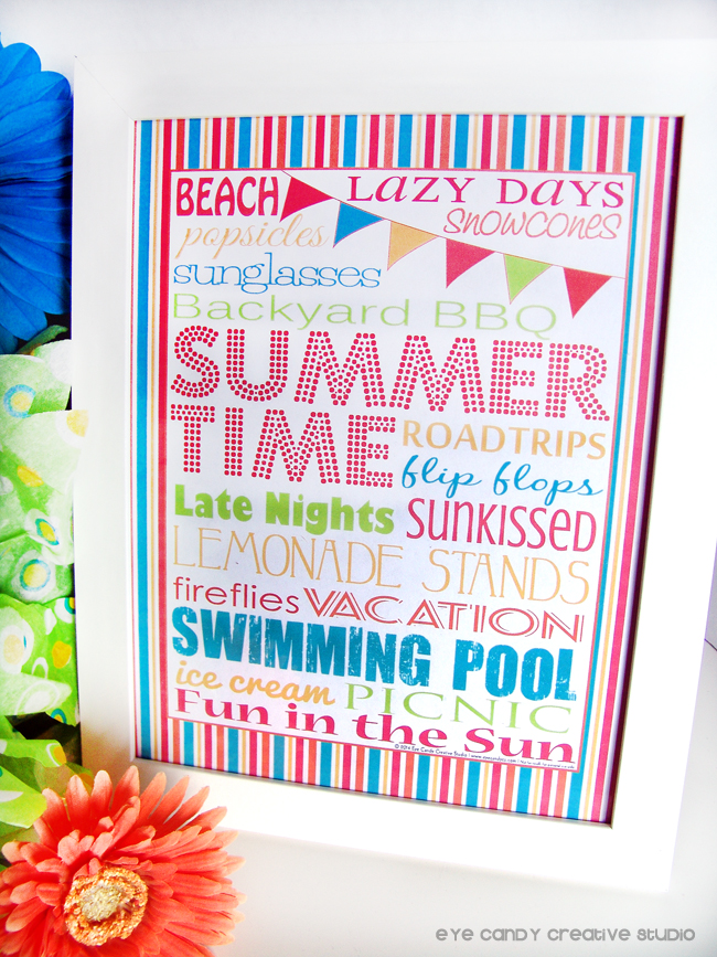 freebie, free download, summertime, tropical colors, stripes, BBQ, free summer art