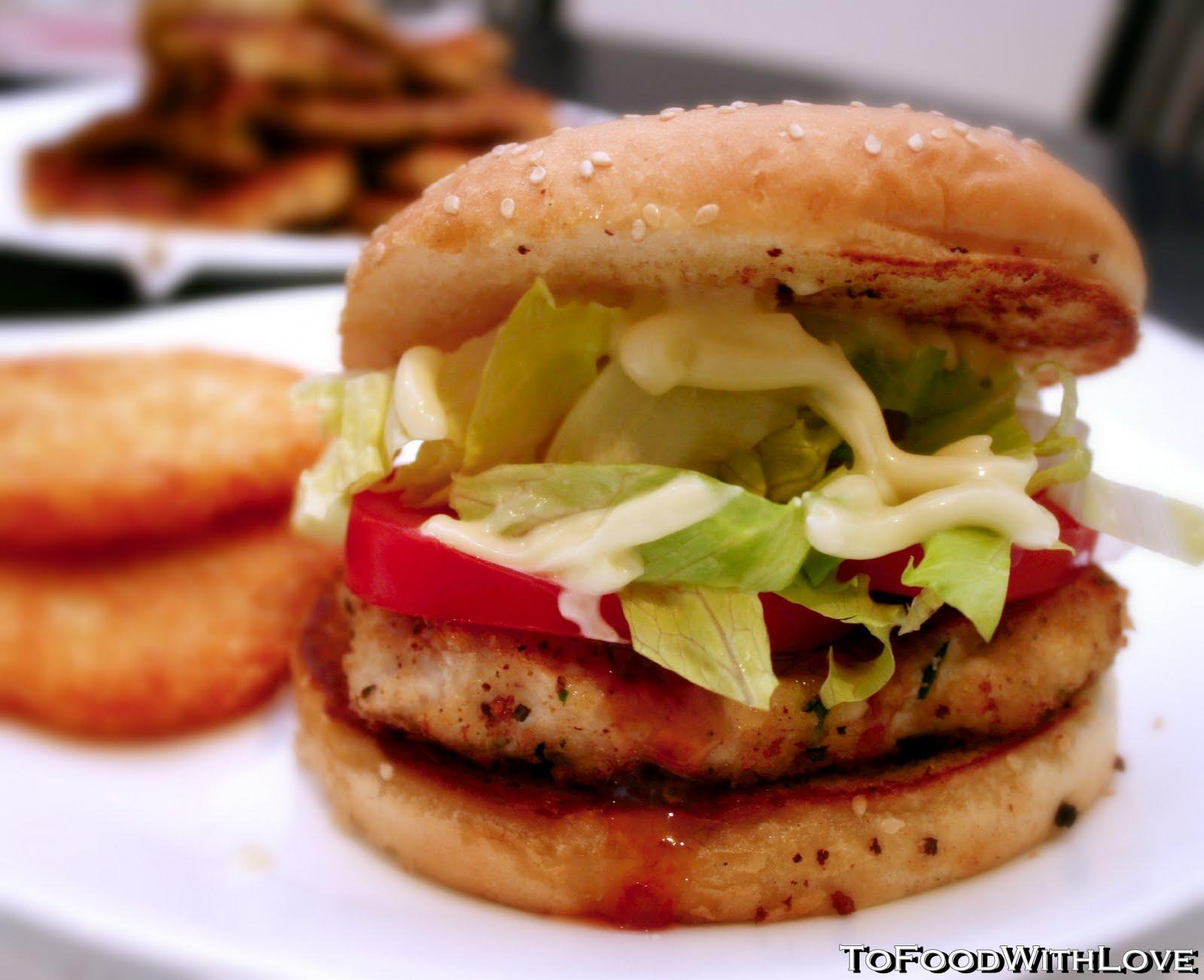 To Food With Love Thai Sweet Chilli Chicken Schnitzel Burger