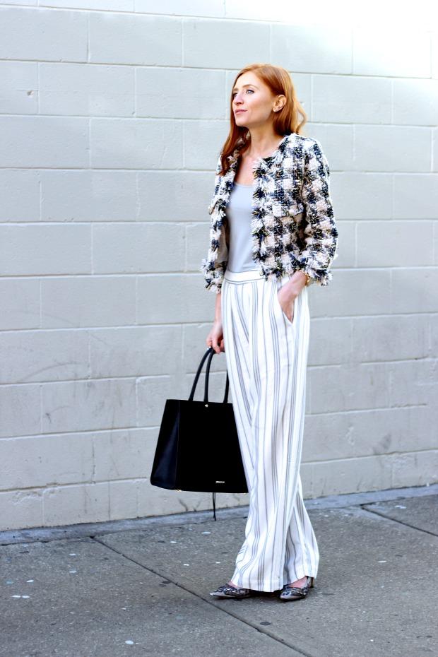 Toronto Fashion Week, spring street style, Chanel inspired coat