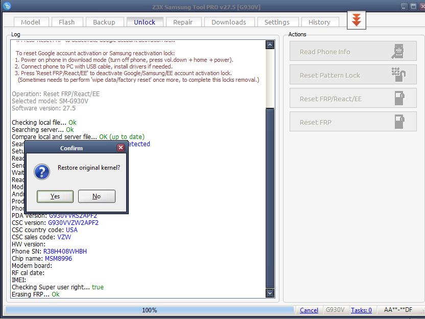 Solución Remover Cuenta Frp S7 G930v Con Z3x - Clan GSM - Unión de