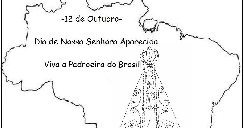 Nossa Senhora Aparecida Mãe Da Família Brasileira: Blog Jonathan Cruz: Nossa Senhora Aparecida Para Colorir