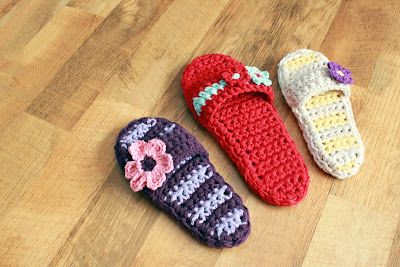 New Crochet Pattern Adult Pammy Sandals Mamachee