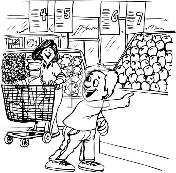 grocery store coloring pages - photo#12