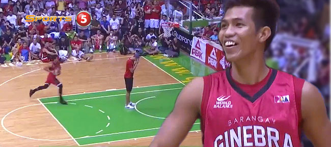 Ginebra's Jammer Jamito with the 'Pambansang Eurostep' DUNK and Crowd Goes Wild (VIDEO)
