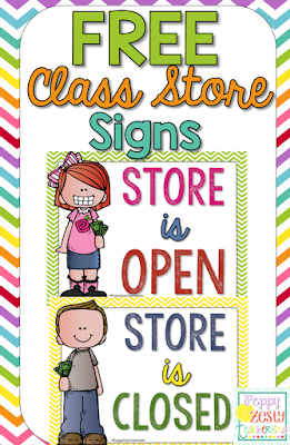 Classroom signe for a classroom economy to help with personal financial literacy and classroom management