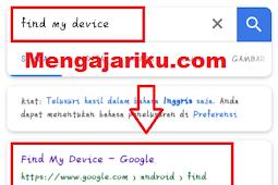Cara Mencari HP Yang Hilang Dengan Email