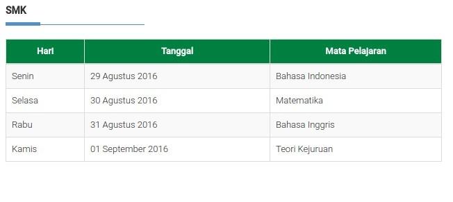 Jadwal Ujian Nasional Perbaikan Unp Tahun 2016 Komunitas