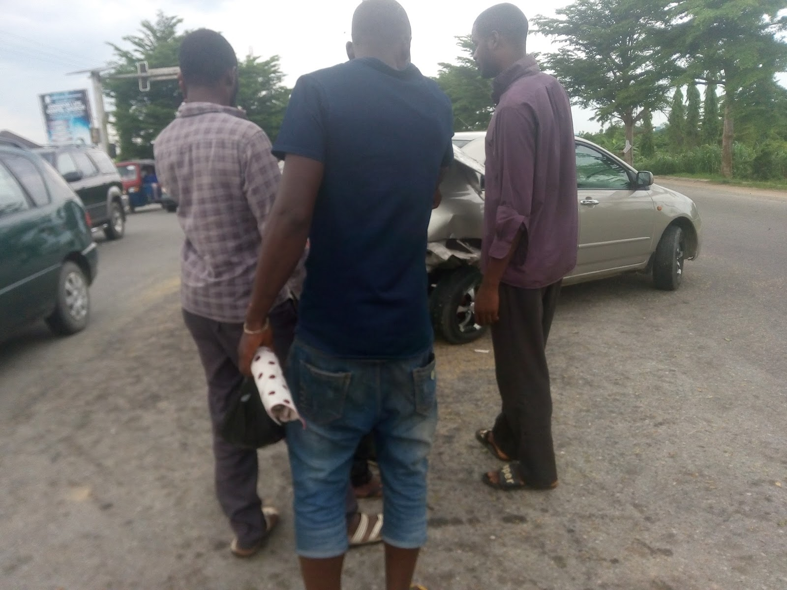 Keke and Toyota car accident in Yenagoa