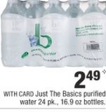 just babsic water deal cvs
