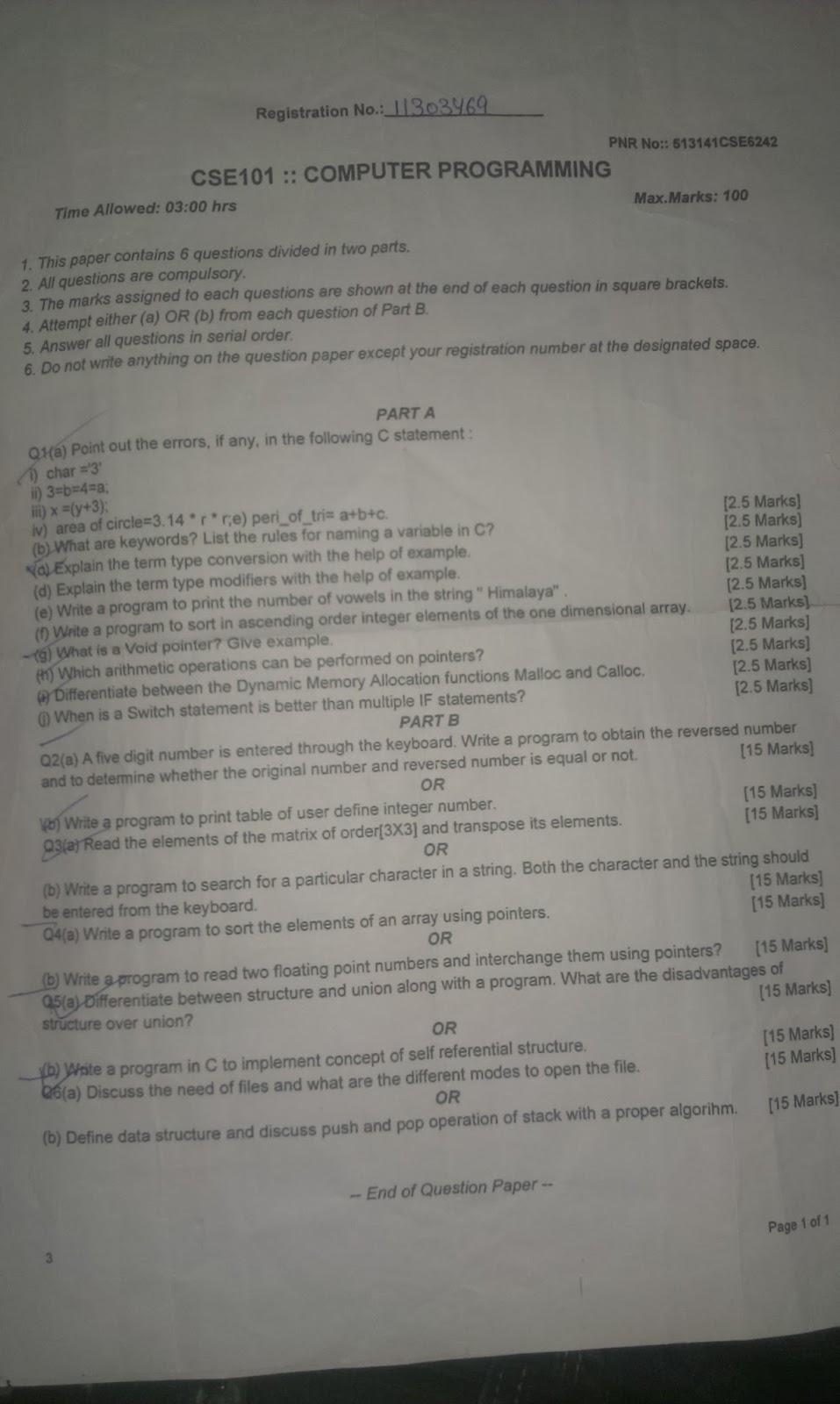 Html programming question paper - CS8251 Programming in C Syllabus