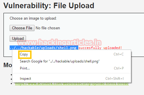 Web Server Exploitation with LFI and File Upload