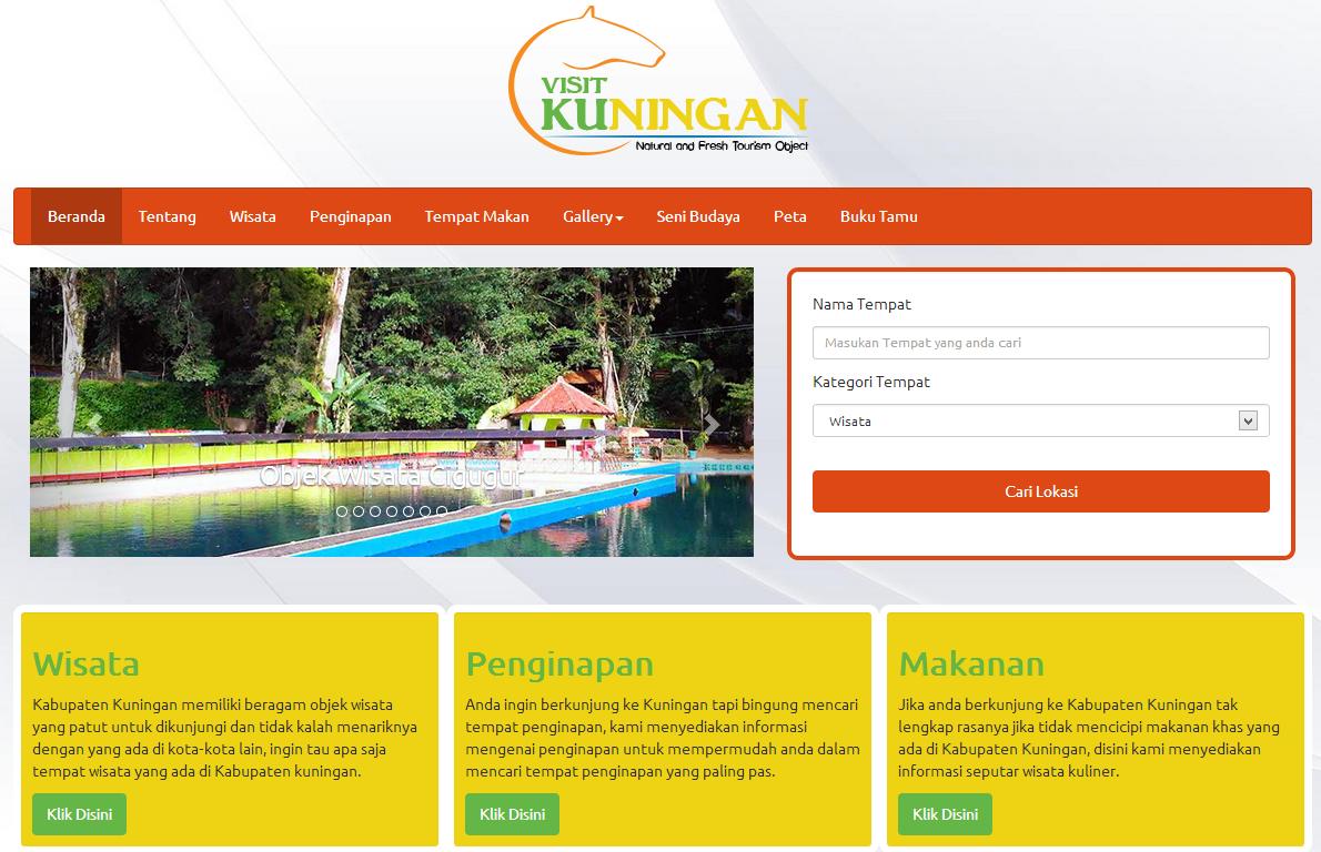 IqbalStack: [WEBSITE] Visitku (Website Pariwisata Kabupaten Kuningan)
