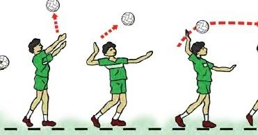 Gerak Dasar Servis Atas Tenis Servis Pada Permainan Bola Voli Teknik Dasar Olahraga Teknik Bola Basket Teknik Bola Voli Sepak Bola Bulutangkis Atletik