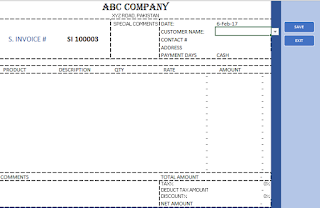 Sale Invoice Templete In Excel