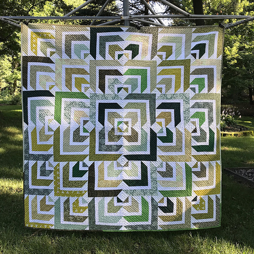 North Star Quilt made by Deb Volkman, The Tutorial designed by Jenny of Missouri Quilt Co