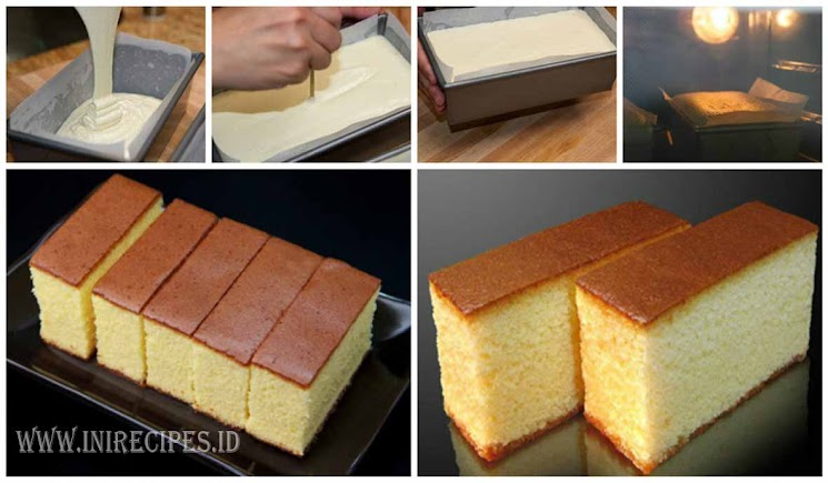 Resep Banana Cake Khas Jepang: Resep Castella Cake Khas Jepang. Tampil Mewah Dengan Bahan