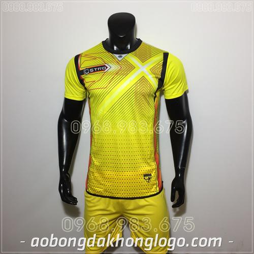 Áo bóng đá không logo Stro HQN Naldo màu vàng