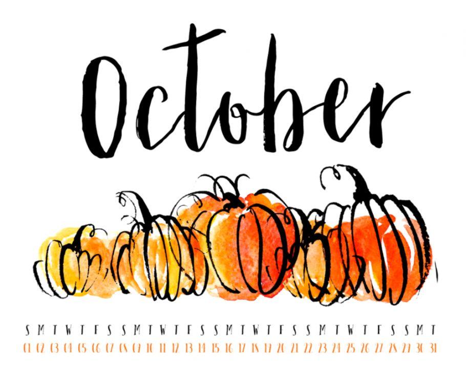 October 2017 Desktop Calendar Wallpaper — UpperCase Designs
