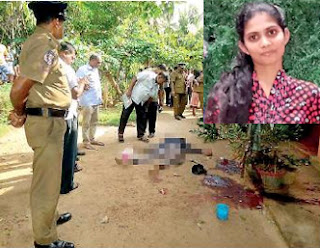 O/L student cut and chopped in home compound ... lover commits suicide by cutting his own neck!