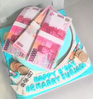 cake tema uang