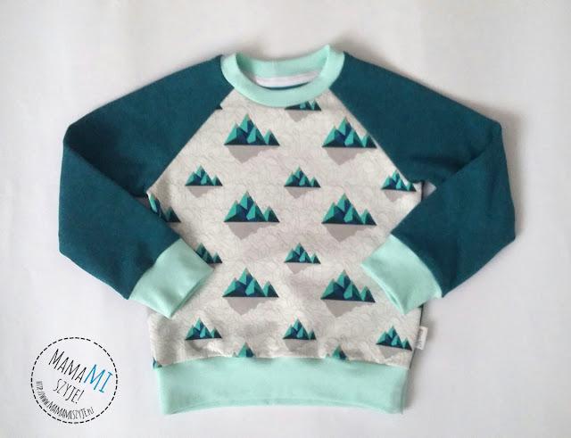najprostszy raglan, bluza dla dziecka, szycie dla dzieci