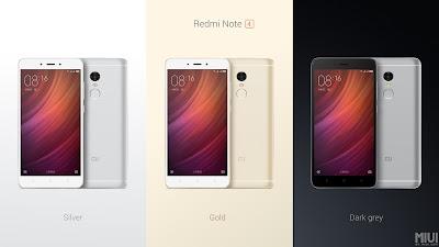 Xiaomi Redmi Note 4 Colours