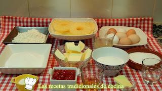 Receta de pastel de piña