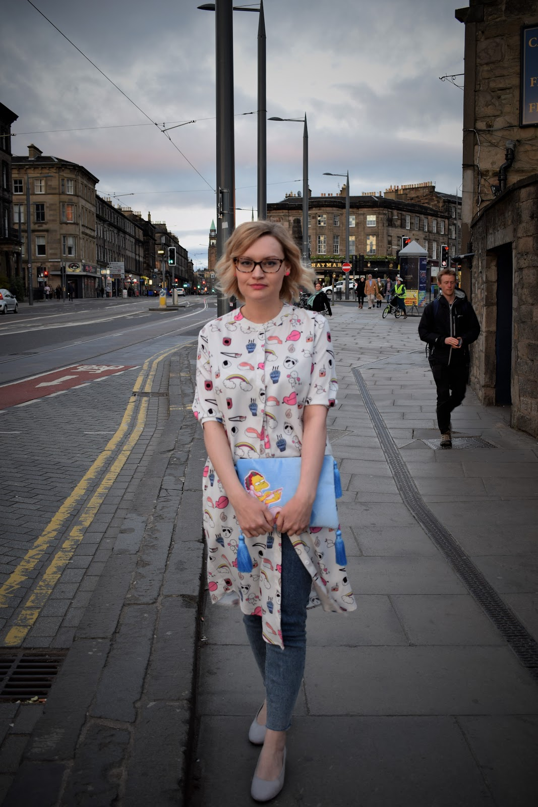 The Whitepepper sushi dress, Skinnydip Simpsons Moe bag, Wardrobe Conversations, Scottish fashion blogger, style blog from Edinburgh