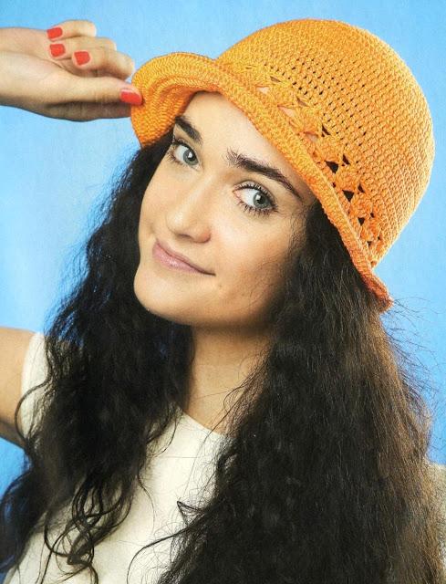 Оранжевая шляпка. Orange hat