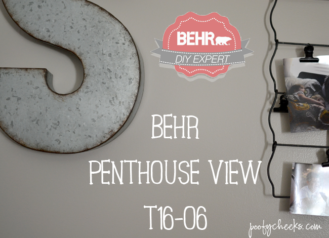 BEHR Penthouse VIew T16-06 // A Greige Color from the 2016 Color Trend