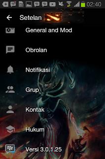 BBM MOD Tema Dota 2 Hero Arcana v3.0.1.25 Apk Update Terbaru 2016 Gratis