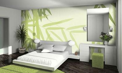 habitaciones decoradas en verde y gris dormitorios colores y estilos. Black Bedroom Furniture Sets. Home Design Ideas
