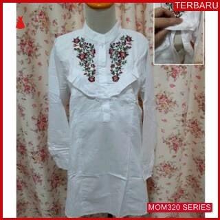 MOM320B16 Baju Atasan Hamil Putih Menyusui Bajuhamil Ibu Hamil