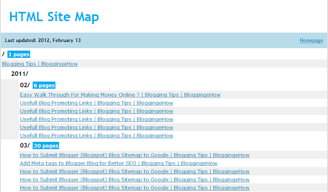 2 Steps To Make An XML/HTML Sitemap For Your Blog?